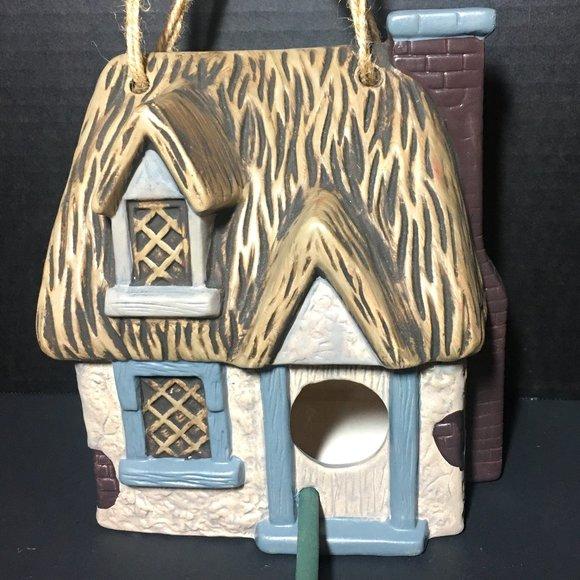 Vintage Ceramic Bird House Ready to Hang